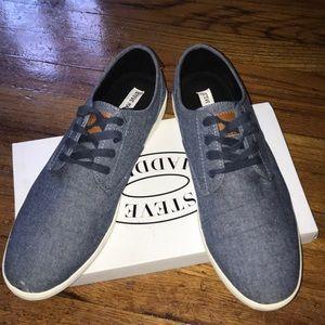 Steve Madden Fenta Blue Fabric Shoes